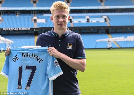 De Bruyne podpisał kontrakt z Manchesterem City do 2021 roku.|www.dailymail.co.uk